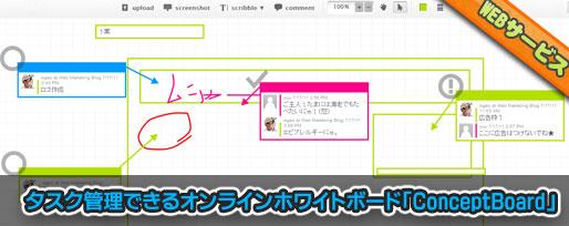 タスク管理できるオンライン ホワイトボード「ConceptBoard」