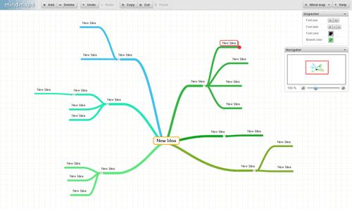 ブラウザベースのマインドマップ