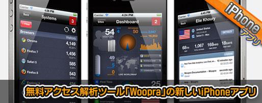 無料アクセス解析ツール「Woopra」のiPhoneアプリ