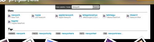 ユーザーやタグで検索