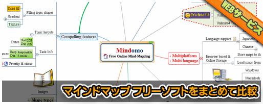 マインドマップフリーソフトを7つまとめて比較