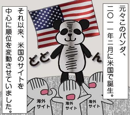 米国サイトに影響を与えるパンダ