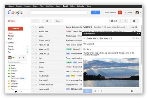 Gmailの新しい新規メール作成画面