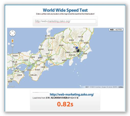 ウェブサイトのスピードテスト
