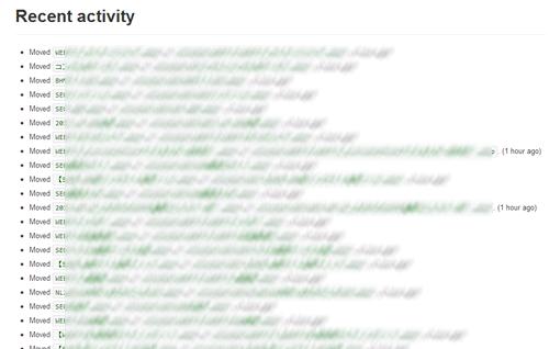 整理されたファイルの履歴がサイト上に表示される